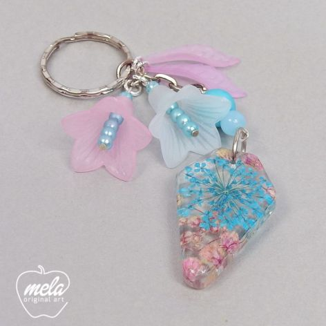 0570~mela- Brelok do kluczy, torebki kwiaty