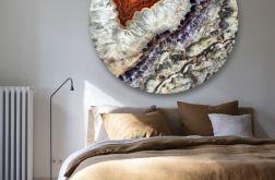 Minerał - obraz w okrągłej ramię