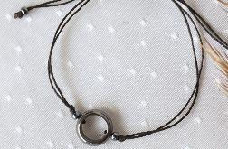 Bransoletka na rękę z hematytowym kołem