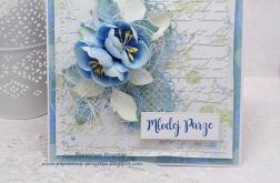 Niebieska laguna- kartka na ślub