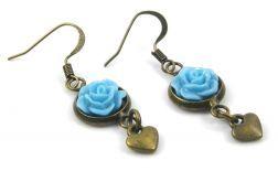 Niebieskie różyczki
