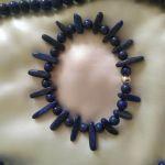 Bransoletka z naturalnego lazurytu,srebro - Bransoletka naturalny lazuryt