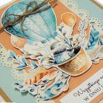 Kartka urodziny dziecka z królikiem i balonem - Kartka na urodziny dziecka
