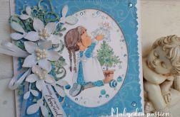 Kartka świąteczna z dziewczynką II