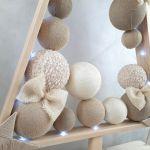 Elegancka Drewniana choinka w stylu skandynawskim LED -
