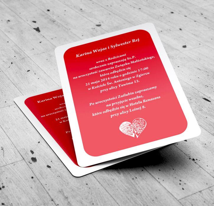 Zaproszenia Śubne w formie kart do gry!