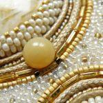 Agat marmurkowy w złotej oprawie
