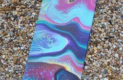 Kolorowy abstrakcyjny obraz - pouring
