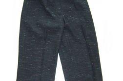 eleganckie ciemne spodnie do kolan rozm. M