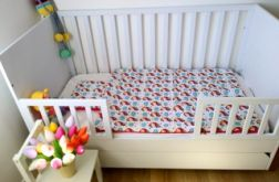 Jednorożce/amarantowy minky Kocyk + poduszka