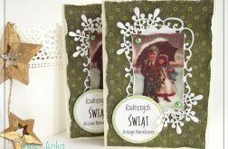 Kartka świąteczna z dziećmi
