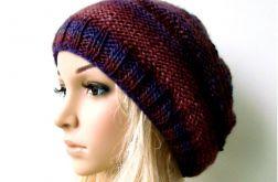 czapka we fioletach