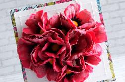 Różowe maki w sercu na ślub