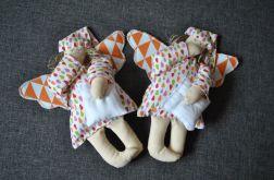 Zabawka tekstylna - Aniołek pomarańczowy