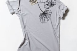 FLOWERS BLACK tshirt oversize