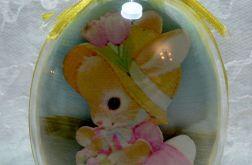 "Jajko akrylowe 3D ""Królik w sukience"""