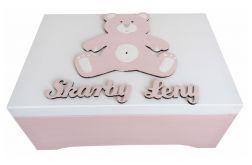 Drewniane pudełko na skarby-prezent dla dziewczynki- Ps25