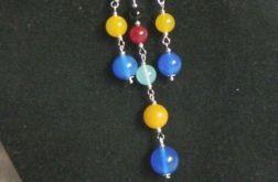 Kolorowe agaty, delikatny zestaw biżuterii
