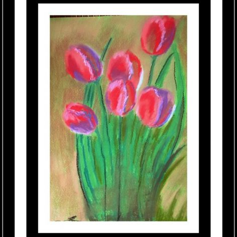 tulipany pastele