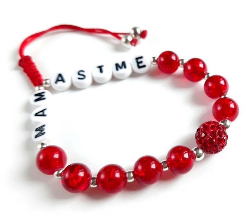 Bransoletka z napisem MAM ASTME -