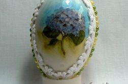 """Jajko """"Gałązka z niebieskim kwiatem"""""""