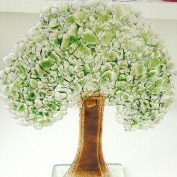 Drzewo ze szkła fusing