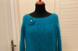 Sweterek z jedwabiu i moheru