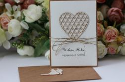 Stylowa kartka ślubna z kopertą 1