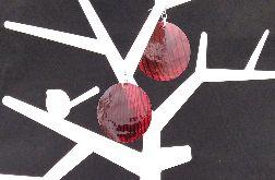 Kolczyki czerwone koła z masy perłowej