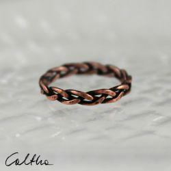 Miedziany pierścionek rozm.10 - 171107-02