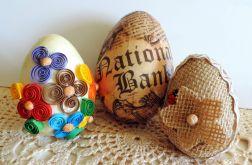 Eko jaja cudnie zdobione 3szt.
