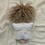 ANIOŁEK lalka - dekoracja tekstylna, OOAK/26 - tak wyglądam z tyłu