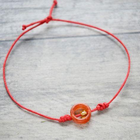 Bransoletka pomarańczowa oponka