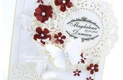 Kartka ślubna - dla Pani Basi