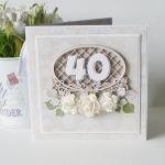 """Kartka urodzinowa """"40"""" v.2 - past3"""