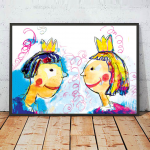 21x30cm  Królewna i królewicz plakat kolor