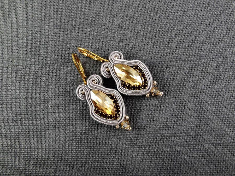 Noxy Mini - małe eleganckie kolczyki sutasz