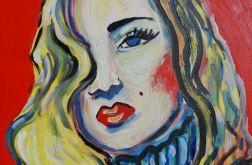 obraz olejny Veronica Lake noir old cinema Hollywood stars