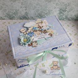 Pudełko wspomnień pamiątka narodzin GOTOWE