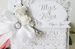 Ślubna elegancja - kartka ślubna w pudełku v5