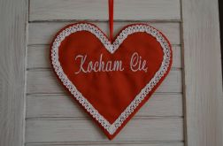 """Serce czerwone """"Kocham Cię"""""""