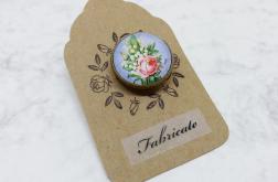 Broszka - Niezapominajka i róża - Fabricate