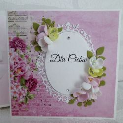 Kartka z kwiatami - Dla Ciebie II