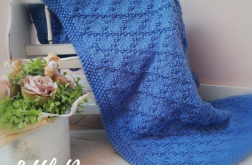 Kocyk/ Pled HandMade Blue