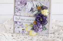 Kartka urodzinowa - w fioletach, 438