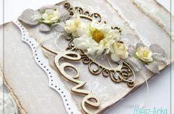 Elegancka kartka na Ślub z napisem LOVE