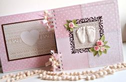 Album STOPY/różowy/w pudełku