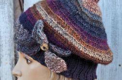 czapka   cieniowana koniczynka