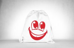 Smile Plecak o Worek White-Red