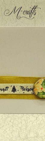 Świąteczne dekoracje..Kartka Bożonarodzeniowa